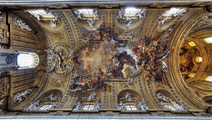 תקרות של כנסיות ברומא: כנסיית ג'זו