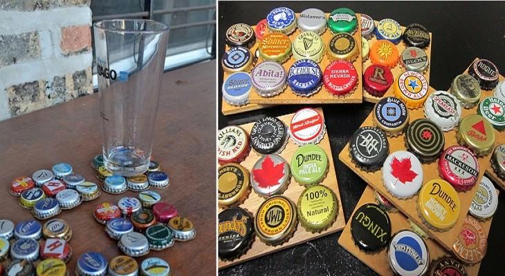 יצירות עם פקקים של בקבוקים: תחתיות לכוסות