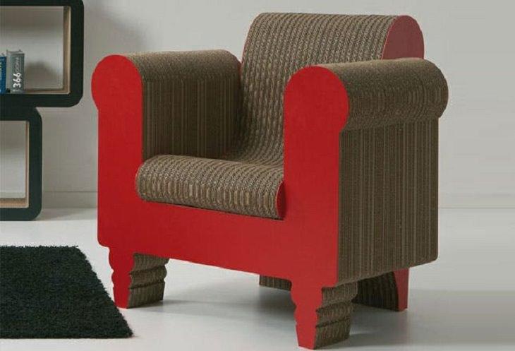רהיטים מיוחדים: כורסת קרטון