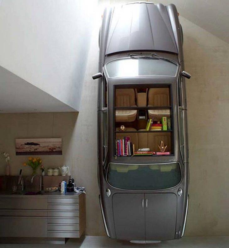 רהיטים מיוחדים: ארונות מטבח מעוצבים כדגם של מכונית יגואר