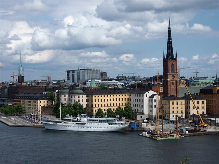 אתרים מומלצים בשוודיה: צילום מרוחק של העיר העתיקה