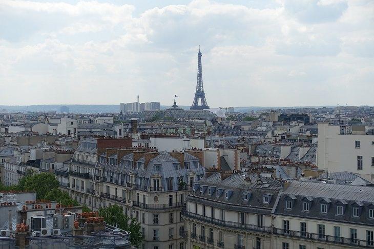 אתרי תיירות חלופיים: פריז ממבט עילי מהמרפסת של פרינטמפס האוסמן