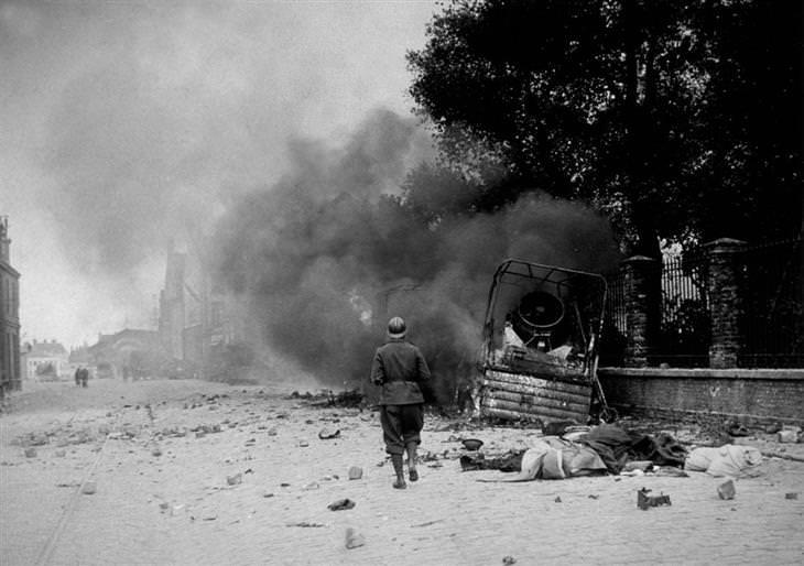 מבצע החילוץ בדנקרק: הרס רב בעיירה דנקרק