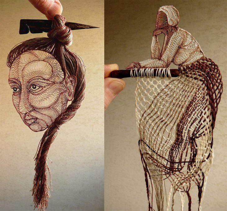 פסלי התחרה של אגנש הרצג: פסלים של נשים