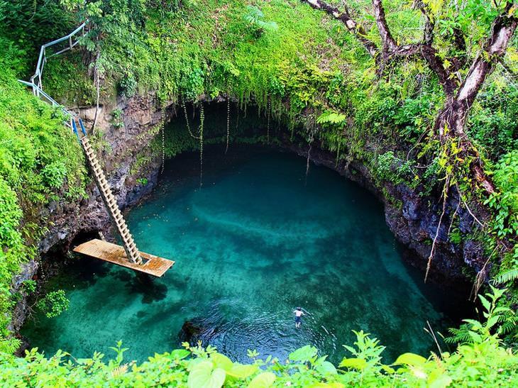 בריכות טבעיות מדהימות מרחבי העולם: תעלת האוקיינוס טו סואה – לוטופגה, סמואה