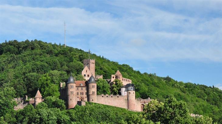 עיירות ציוריות בגרמניה: טירה שעומדת על גבעה מוריקה