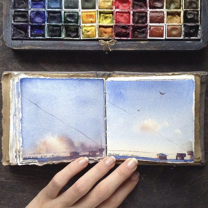 יצירות של האמנית אלנה לימקינה: נוף מרוחק