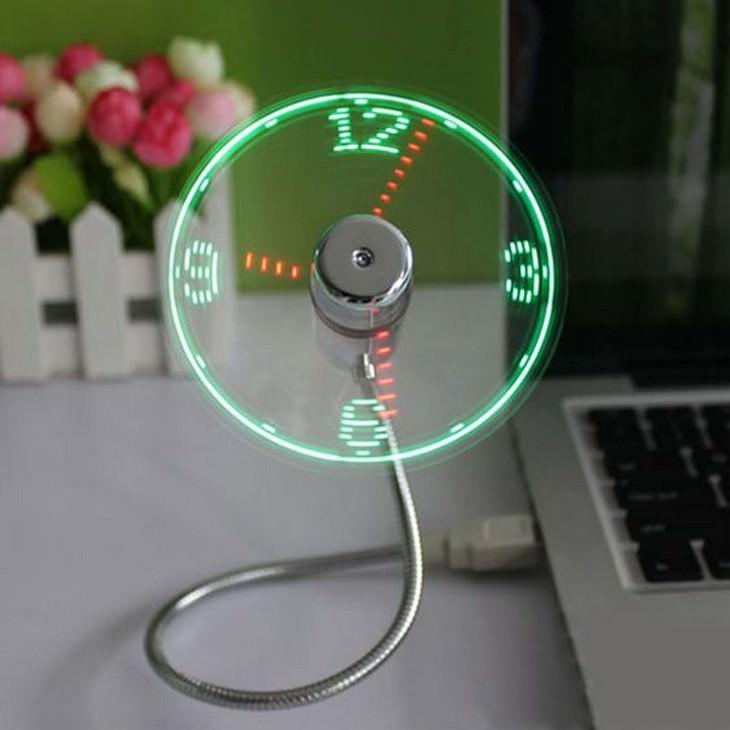 המצאות מדליקות: מאוורר שהשעה מוצגת עליו