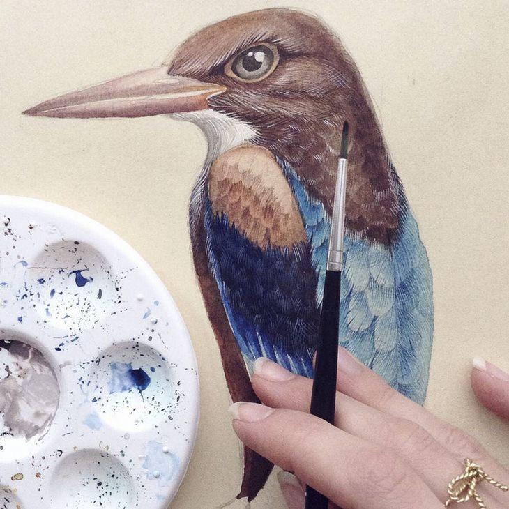 יצירות של האמנית אלנה לימקינה: ציפור