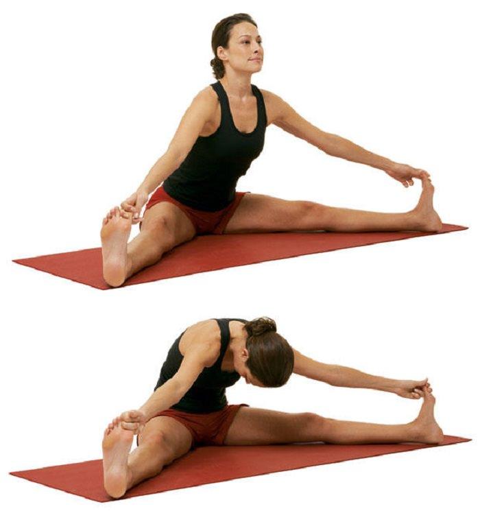 תרגילי יוגה להעלאת אנרגיה: תנוחת מתיחה בפישוק רגליים
