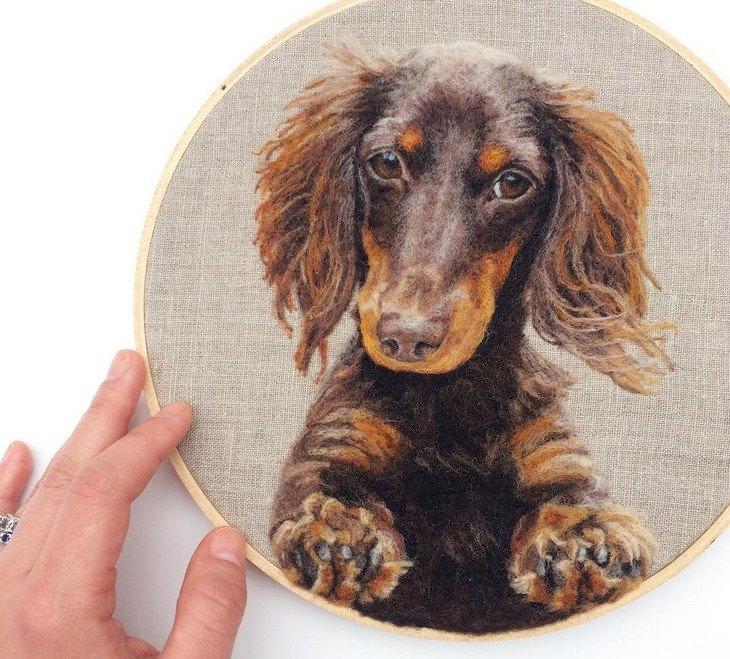 רקמות לבד של חיות: כלב