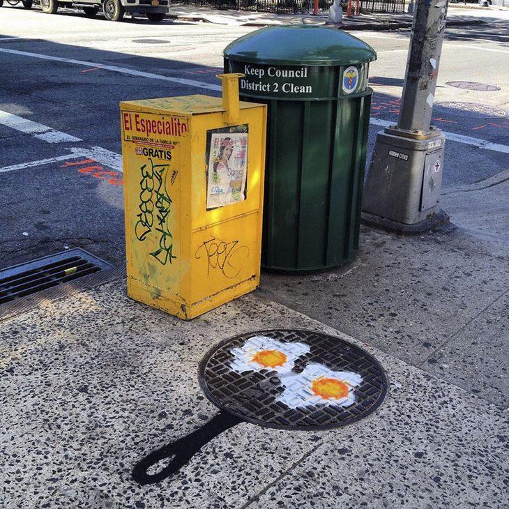 אמנות רחוב: יצירות של האמן טום בוב