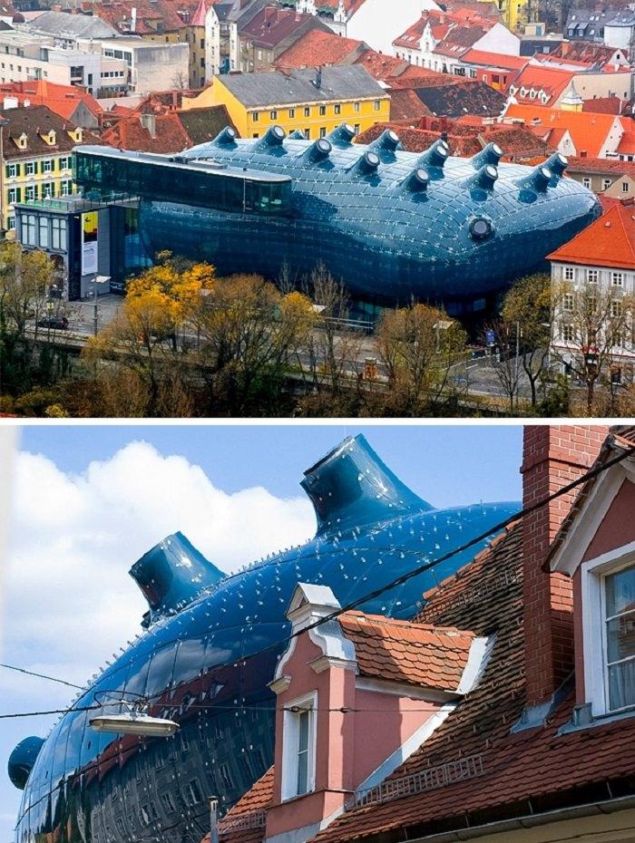 פלאי אדריכלות מודרניים - Kunsthaus Graz - גראץ, אוסטריה