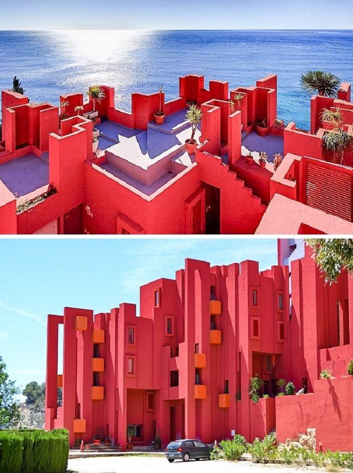 פלאי אדריכלות מודרניים - La Muralla Roja - קאלפ, ספרד