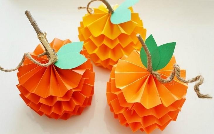 יצירות תלת ממדיות שאפשר להכין בבית: תפוזים תלת ממדיים מנייר