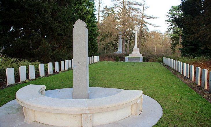 צירופי מקרים בהיסטוריה: בית הקברות הצבאי האנגלי, סנט סמפוריאן