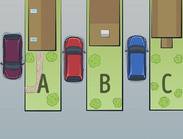 חידות בלשיות: איור מכוניות ובתים