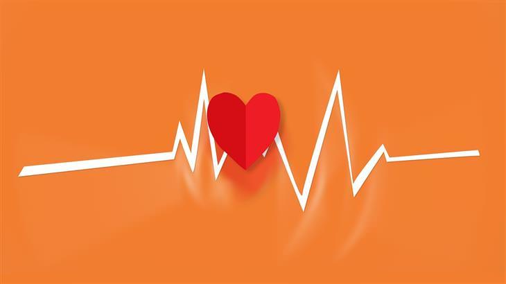 יתרונות בריאותיים של שמן קריל: איור של לב על קו אקו לב