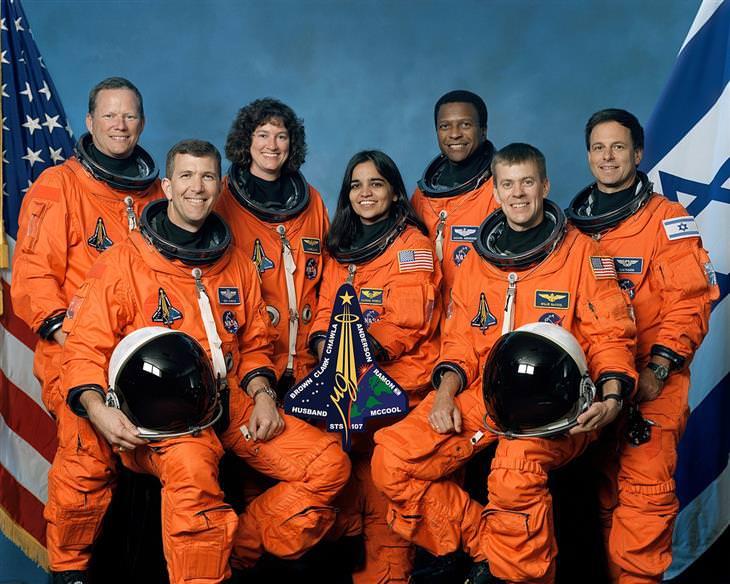 אירועי שבוע החלל הישראלי: צוות מעבורת קולומביה