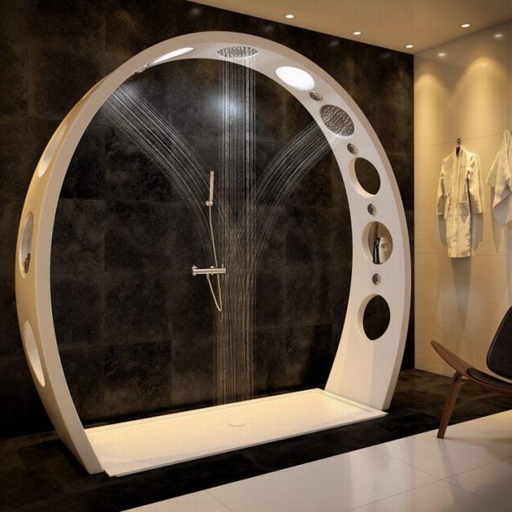 מוצרים בעיצובים מיוחדים: מקלחת עם זרם משלושה כיוונים