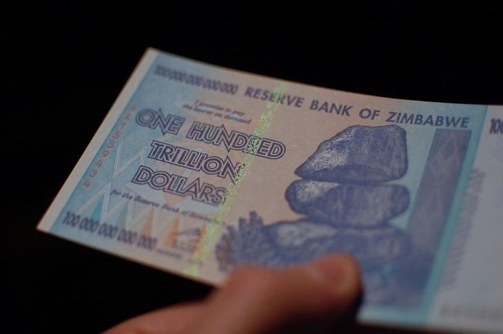 תלונות נפוצות במדינת העולם: שטר של מיליארד דולר זימבבואי