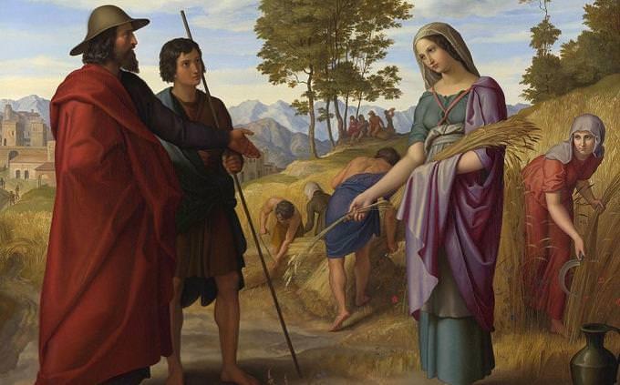 """חידון אישים בתנ""""ך: ציור של רות המואביה"""