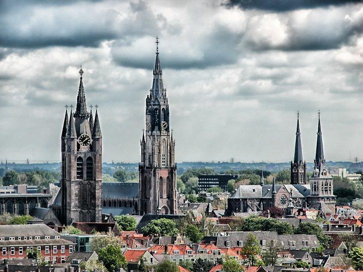 מסלול טיול בדרום הולנד: נופי העיר דלפט