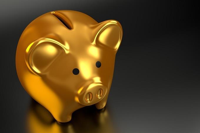 כישרון חבוי לפי צבעים: קופסת חיסכון של חזיר בצבע זהב