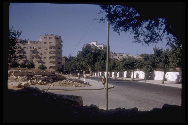 ישראל בשנת 1950: פינת הרחובות קרן קיימת והמלך ג'ורג' בירושלים