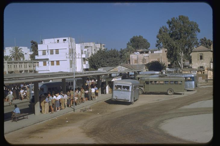 ישראל בשנת 1950: תחנת האוטובוסים המרכזית בתל אביב