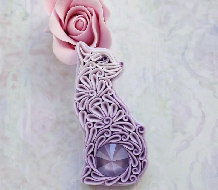 יצירות חימר צבעוניות ומקסימות: חתול