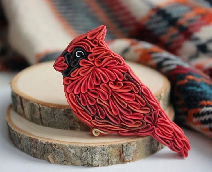 יצירות חימר צבעוניות ומקסימות: ציפור