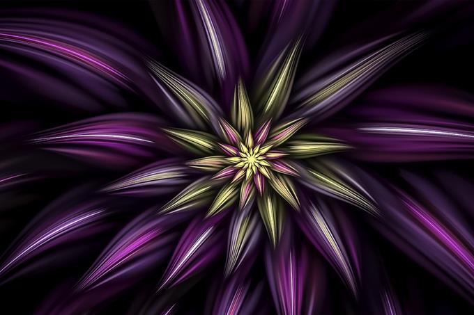 מבחן אישיות - איך המוח עובד: ציור אבסטרקטי של פרח