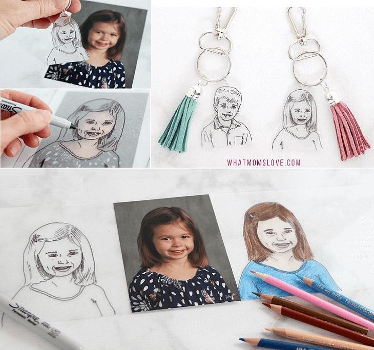 יצירות ליום המשפחה: מחזיק מפתחות עם דמויות הילדים במשפחה