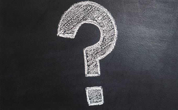 מבחן טריוויה: לוח עם סימן שאלה
