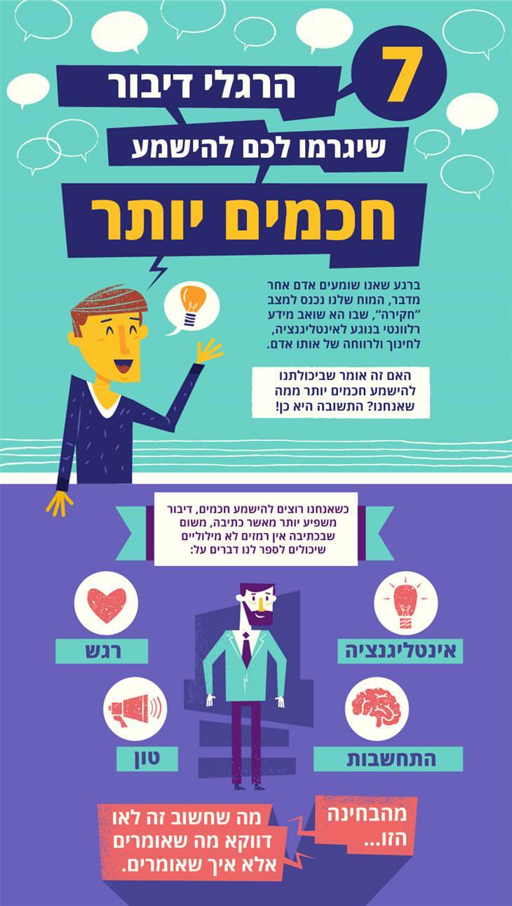 הרגלי דיבור שיגרמו לכם להישמע חכמים יותר