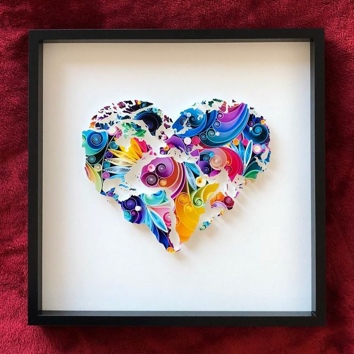 יצירות מנייר: לב