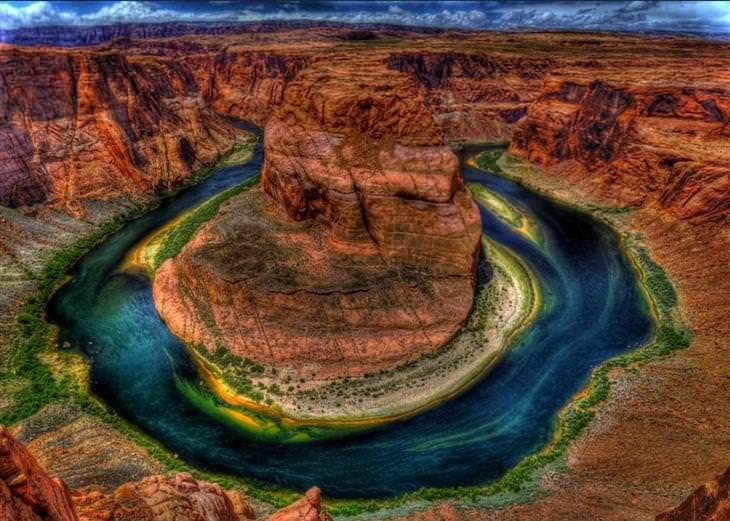 תופעות טבע צבעוניות: עיקול הפרסה, גרנד קניון