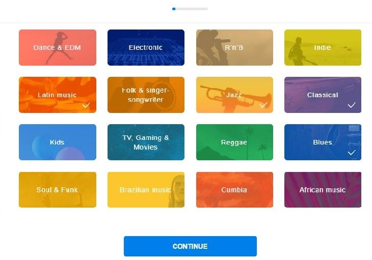 מדריך לשימוש בשירות דיזר: בחירת סגנונות מוזיקה מועדפים