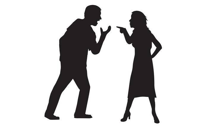 דברים שמונעים מכם אושר: איור של זוג מתווכח