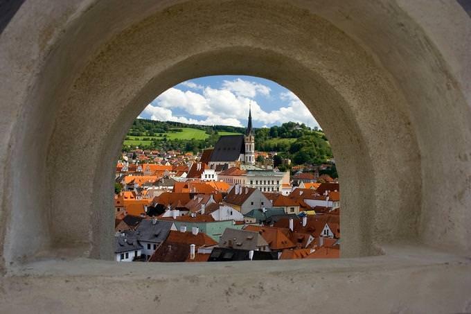 מבחן אישיות: נוף גגות בתים הנראה מבעד לפתח-חלון