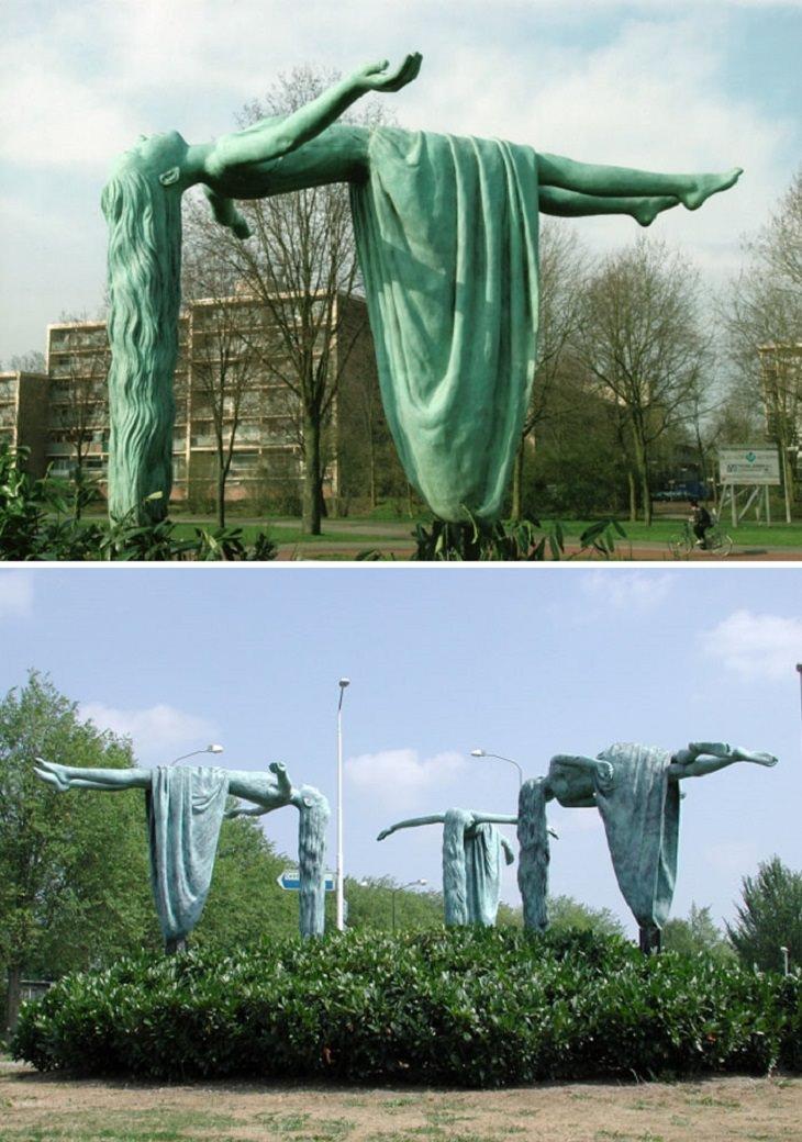"""פסלים שקוראים תיגר על כוח המשיכה: פסל """"הבתולות של אפלדורן"""""""