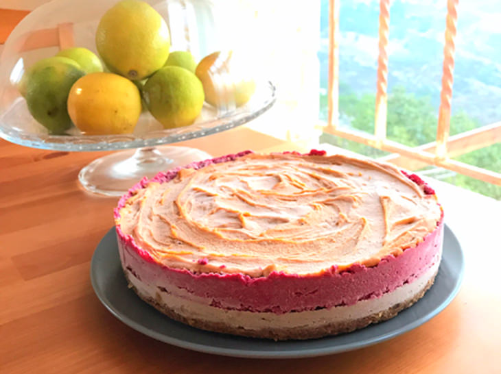 עוגת שכבות קרה: עוגה