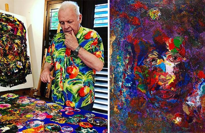 אנשים מפורסמים שהם גם ציירים מוכשרים: ציורים של אנתוני הופקינס