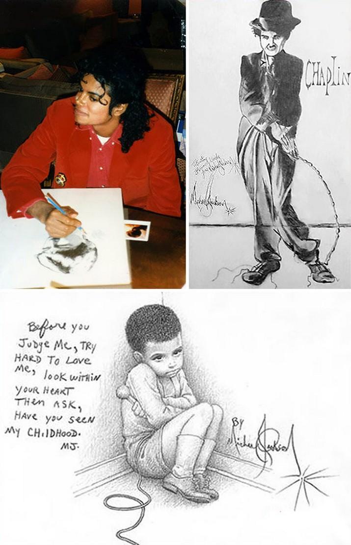 אנשים מפורסמים שהם גם ציירים מוכשרים: ציורים של מייקל ג'קסון