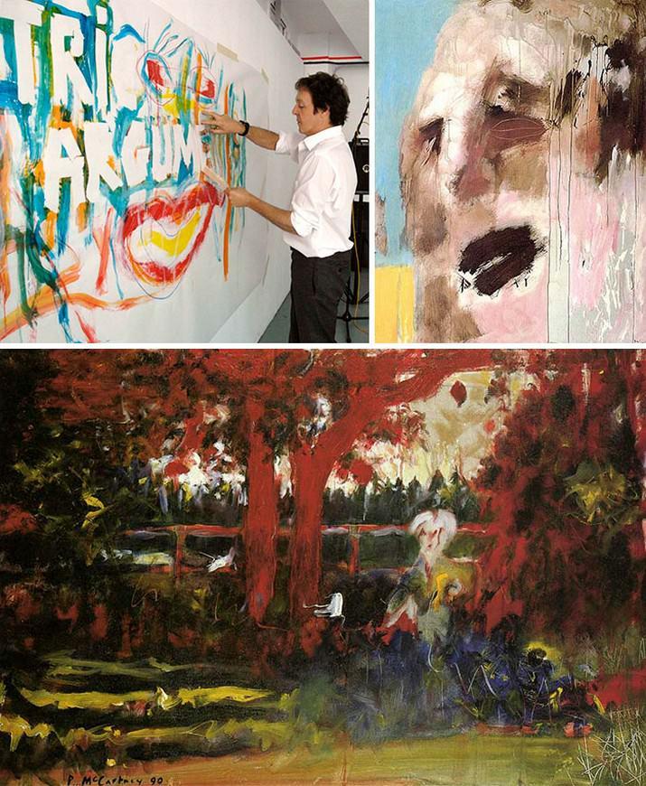אנשים מפורסמים שהם גם ציירים מוכשרים: ציורים של פול מקרטני