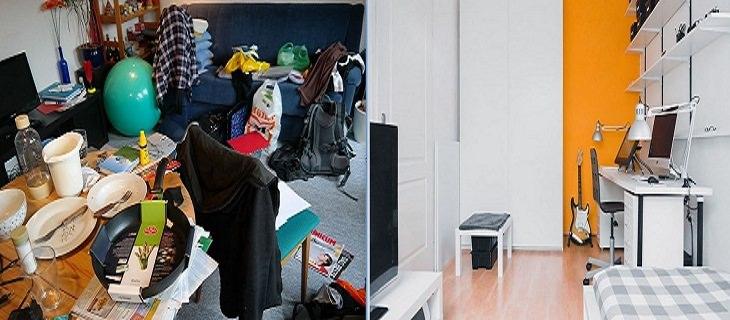 טריקים פסיכולוגיים להורים: חדר מסודר לעומת חדר מבולגן