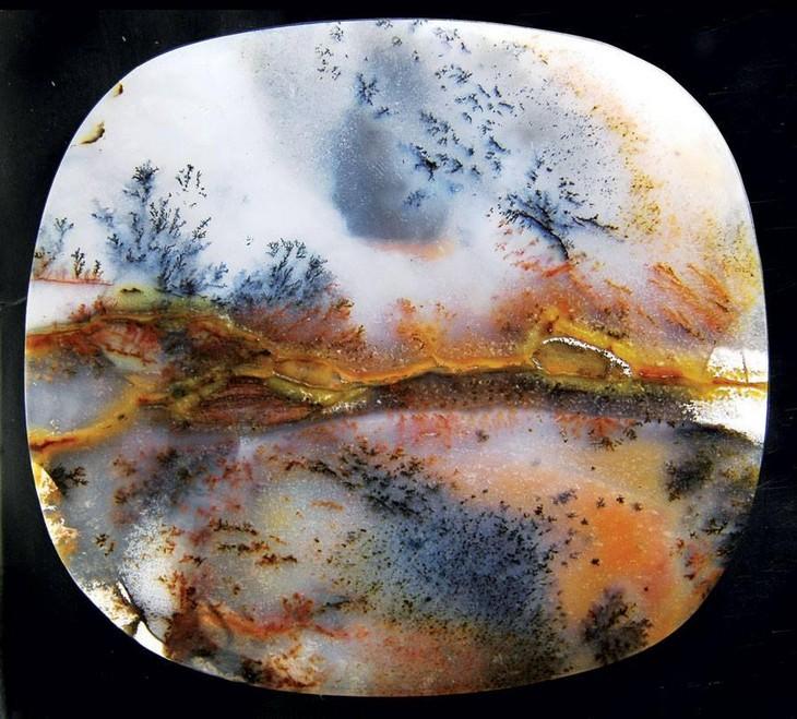 שלמות טבעית מדהימה: אבן חן ססגונית במיוחד מסוג אגט