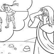 דפי צביעה עם סיפורי התנך: משה נחשף לעבדות בני ישראל