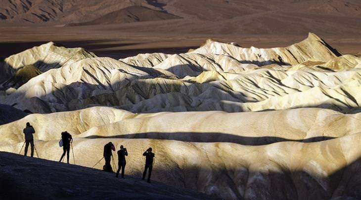 תמונות יפות של קליפורניה: נקודת התצפית זבריצקי, פארק לאומי דת' וואלי (עמק המוות)